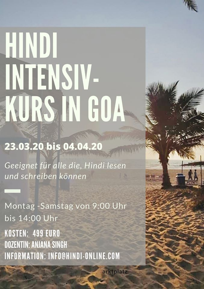 Hindi Intensivkurs in Indien